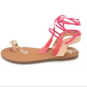 Circus By Sam Edelman lace up tassel sandals 8.5
